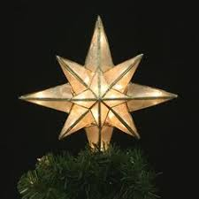 Star Christmas Tree Toppers Lighted - capiz classical multi point bethlehem star christmas tree topper