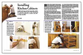 How To Install Kitchen Cabinet Installing Kitchen Cabinets Fine Homebuilding