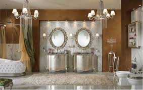 Old World Bathroom Ideas Hollywood Glamour Metallic Accent Bathroom Decor Via Hollywood