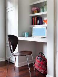 outstanding small office design with chic furniture small office with floating shelves and small computer