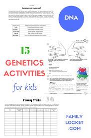 15 genetics activities for kids u2013 family locket