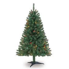 4 tree 4 ft pre lit clear white indiana spruce