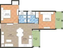 640 sq ft 2 bhk floor plan image raheja developer krishna