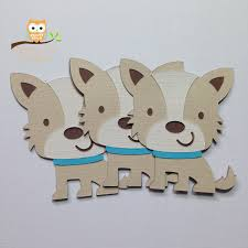 baby shower puppy theme puppy cut outs 2 5