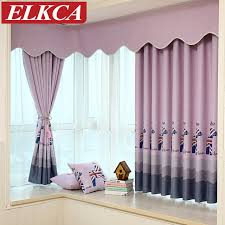 Blackout Curtains For Baby Nursery Aliexpress Com Buy Horse Printed Cartoon Purple Blue Blackout