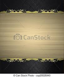Gold Nameplate Stock Photo Of Black Background With Gold Nameplate With Gold Trim