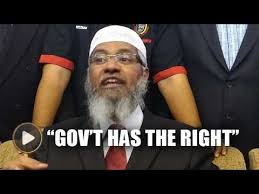 ibrahim ali the government has the right to grant zakir naik pr