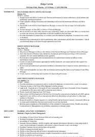 office manager resume front office manager resume sles velvet