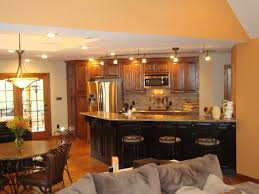 nice open kitchen living room designs with open plan kitchen