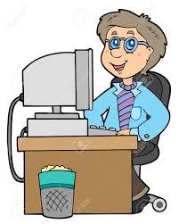 dessin de bureau employé de bureau de dessin animé illustration clip libres