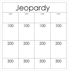 Printable Jeopardy Template Printable Jeopardy Template The Best Jepordy Template