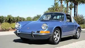 vintage porsche blue 1972 porsche 911t targa gemini blue youtube
