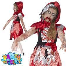 Girls Zombie Halloween Costume Girls Zombie Red Riding Hood Costume Child Halloween Fancy