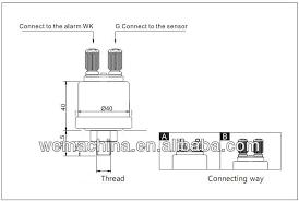 kus oil pressure sensor engine generator sensor alarm oil pressure