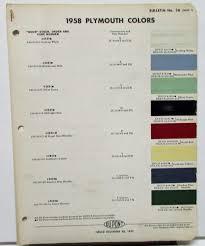 plymouth color paint chips leaflets du pont original