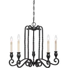 Chandelier Candle Quoizel Atm5005k Atrium With Mystic Black Finish Chandelier And 5