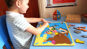 Europe Map Puzzle by I U0026k Montessori Europe Board Puzzle Map Youtube