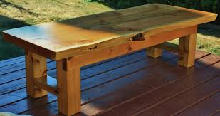Building Outdoor Wooden Furniture by Rustic Outdoor Table Breadboard Ends With The Domino The Wood