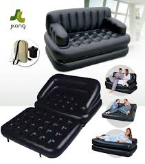 jilong multifunctional inflatable sofa bed mattress with electric