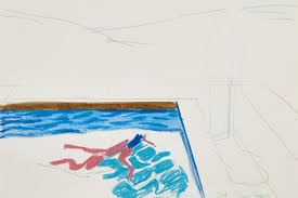 david hockney u0027s sketch for famous swimming pool portrait expected