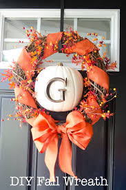 craftaholics anonymous diy fall wreath with monogram pumpkin