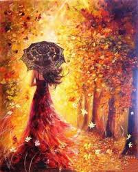best painting paint by numbers kit woman in autumnal forest best paint by numbers
