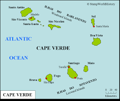 cape verde map world cape verde sts and postal history stworldhistory