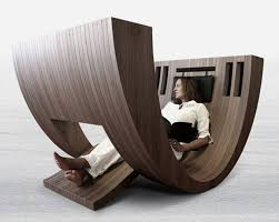 luxurious curved chairs for reading space by claudio d u0027amore