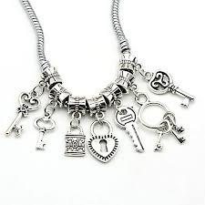 key shaped necklace images Kjjewel tibetan silver tone butterfly beads european charms jpg