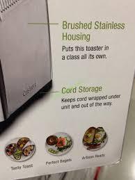 Toaster Costco Costco 1140772 Cuisinart 4 Slice Toaster Part U2013 Costcochaser