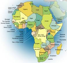 map world africa maps world map of africa with on utlr me