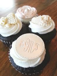 monogram cupcake toppers monogrammed personalized cupcake toppers edible cupcake