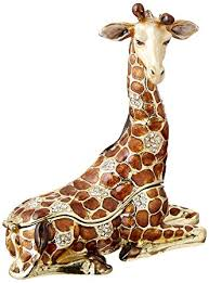 art deco giraffe ring holder images 4 quot resting giraffe keepsake box with swarovski jpg