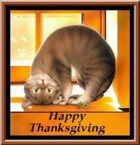 thanksgiving clipart cat pencil and in color thanksgiving