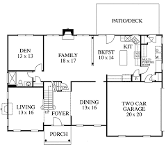 colonial floor plans colonial style house plan 3 beds 3 baths 3082 sq ft plan 1053