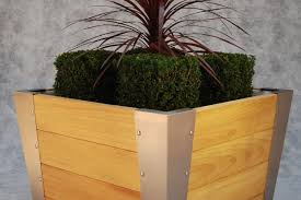 Square Metal Planter by Metal Planter Wooden Square Contemporary Dunston Street