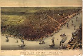 Map New Orleans by Birdseye Map Of New Orleans 1885