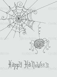 halloween spider web background spider and spider web hand drawn cute background with hand pain