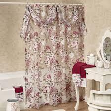 Ivory Shower Curtain Secret Garden Semi Sheer Floral Shower Curtain