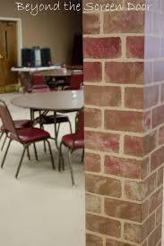 how to paint walls to look like brick beyond the screen door