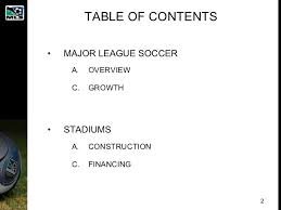 major league soccer table mls stadium business model