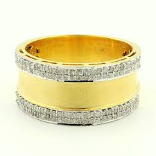 mens yellow gold wedding bands mens diamond wedding band wide 10mm 0 58ct 10k white gold or