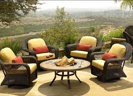 Yellow Patio Chairs Rattan Outdoor Yellow Patio Furniture Cushions With Small