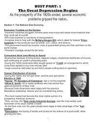 advanced u s history great depression doc