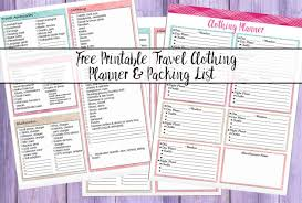travel planners images Free printable vacation clothing planner day night travel jpg