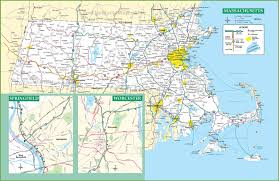 Massachusetts Map Of Towns by Massachusetts Road Map