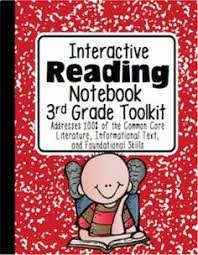3rd grade reading interactive notebook aligned with the common