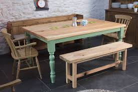 farmhouse kitchen table with bench and storage rubinskosher com