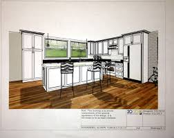 the open concept kitchen cad drawings multnomah village remodel
