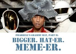 Pharrell Meme - pharrell s grammy hat may have gone viral but aretha franklin s hat